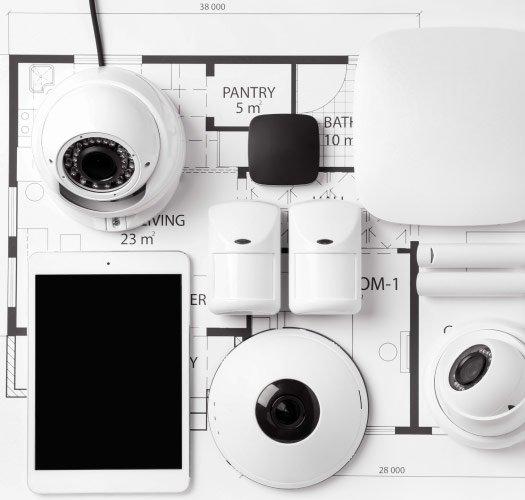 Alarmsystem til hjemmet med kamera