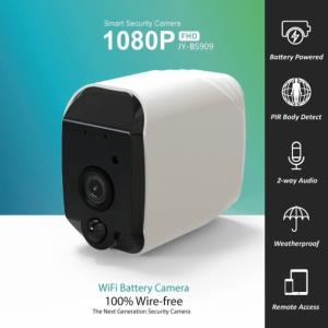 Udvendigt genopladeligt wifi kamera, HD opløsning og IR lys